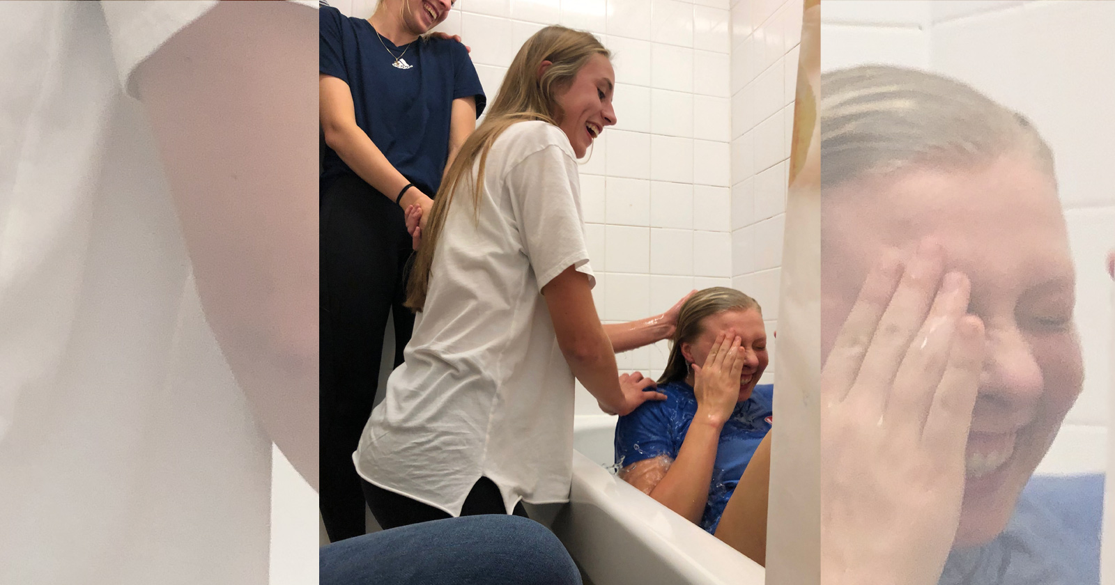 I got baptized in my hall bathroom (!). It was the best day of my life.