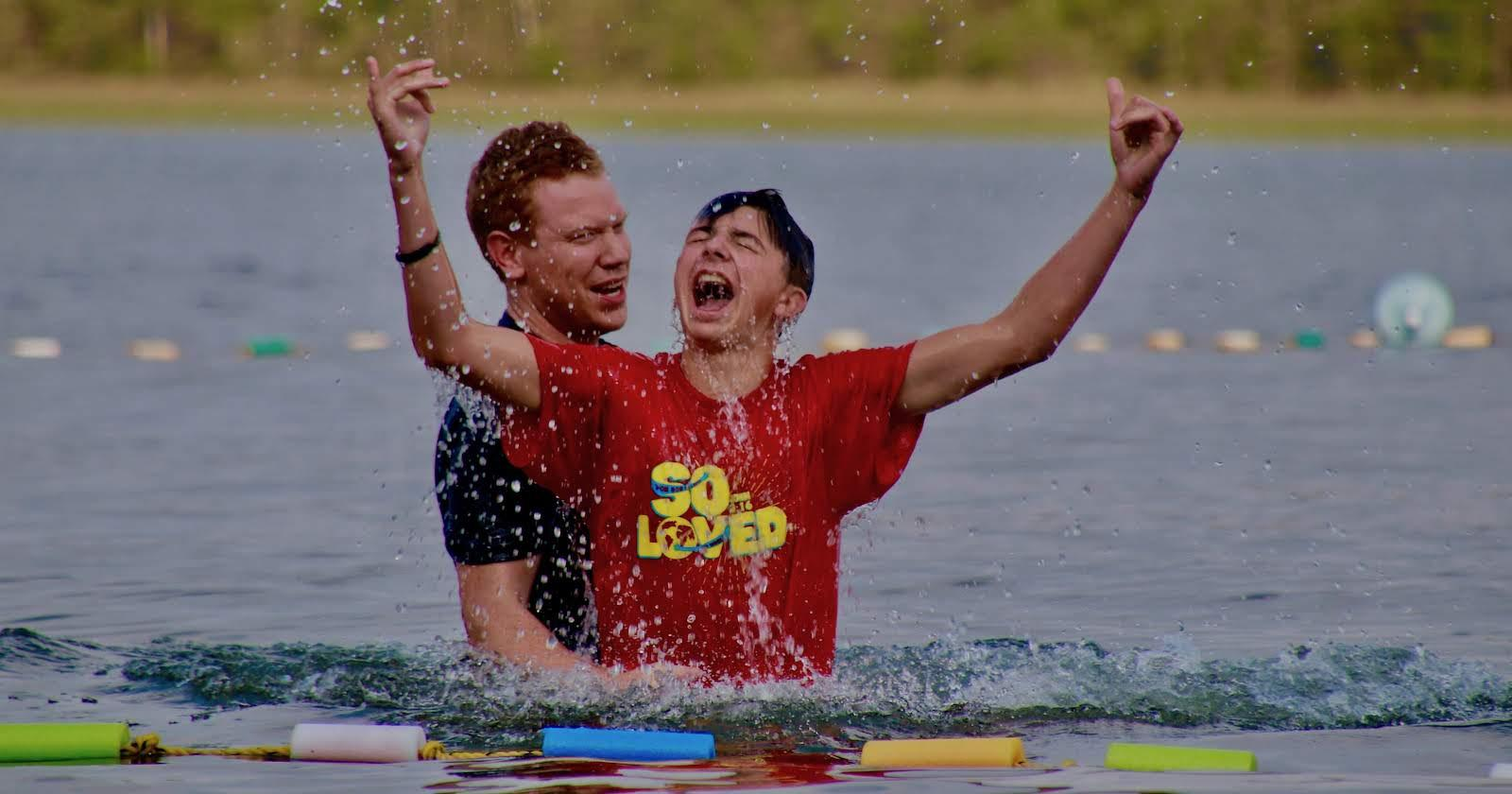 Baptized at camp